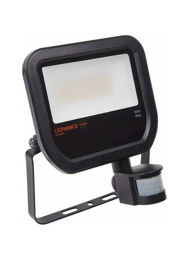 Osram Ledvance Floodlight Siyah Kasa 50 W Sensörlü Led Projektör 3000K Sarı Işık Renksiz